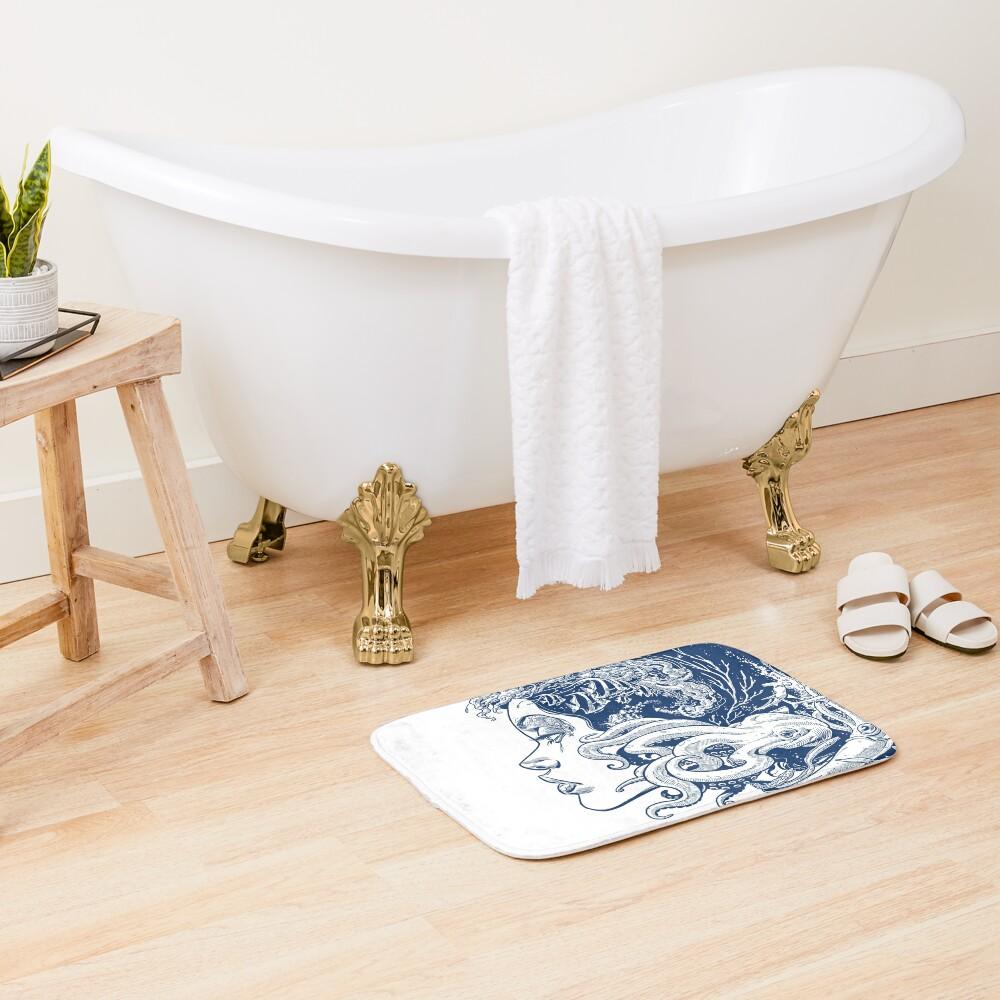 Poseidon's Mistress Blue Alternate Bath Mat