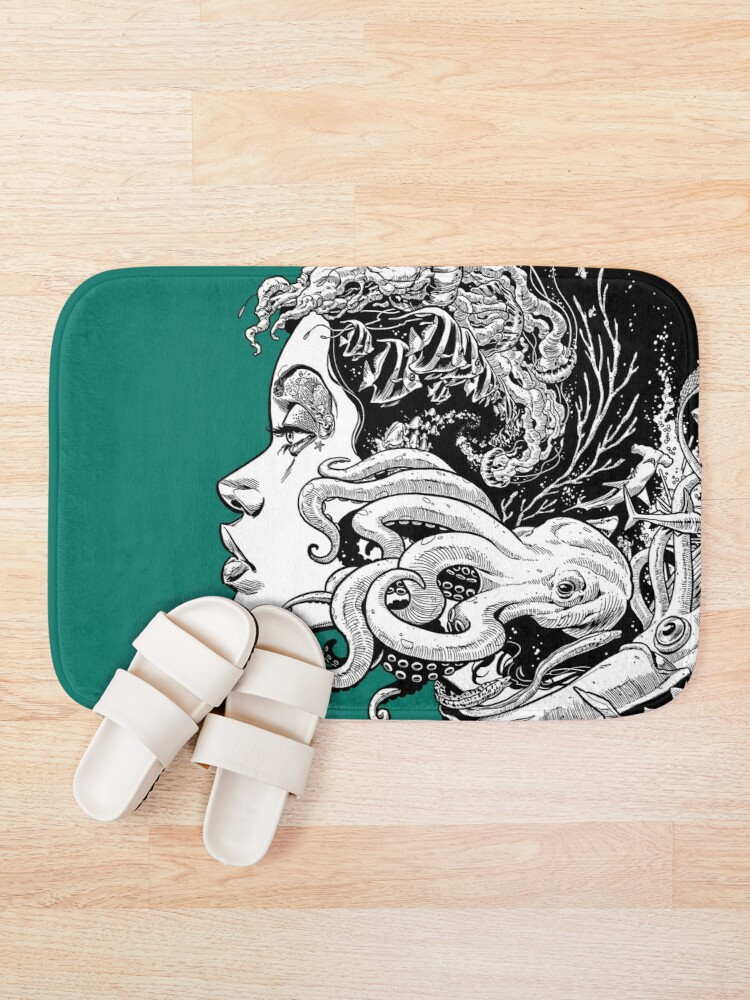 Alternate view of Poseidon's Mistress Alternate Bath Mat