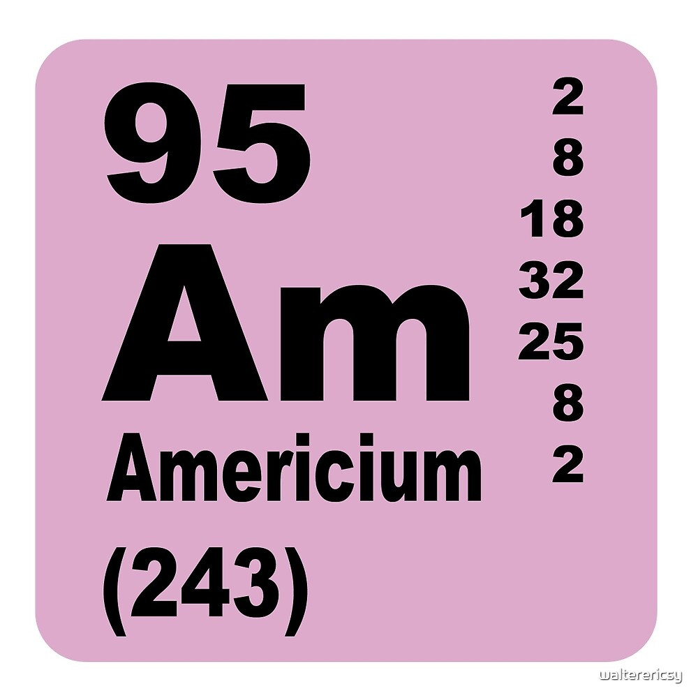 Americium Periodic Table of Elements by walterericsy