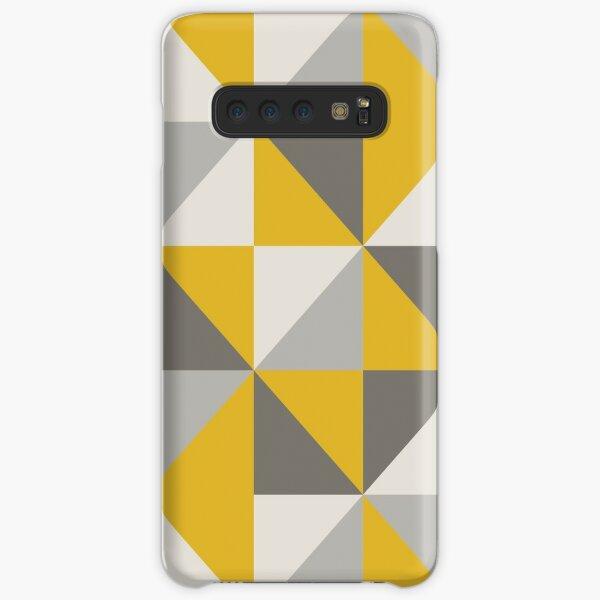 Retro Triangle Design in Yellow and Grey Samsung Galaxy Snap Case