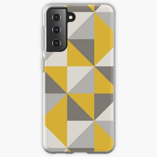 Retro Triangle Design in Yellow and Grey Samsung Galaxy Soft Case