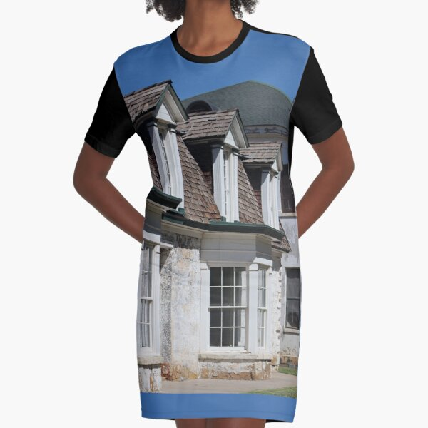 Historic Hospital at Fort Stanton New Mexico Graphic T-Shirt Dress