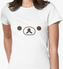 rilakkuma bear Womens Fitted T-Shirt