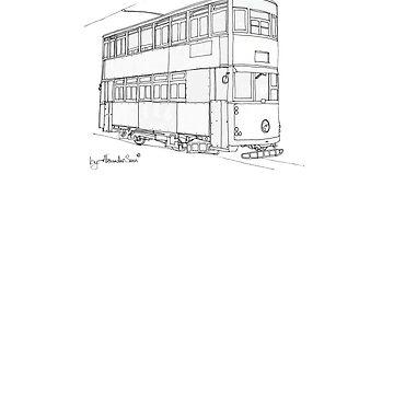 Hong Kong Double Decks Tram by alexandersuen