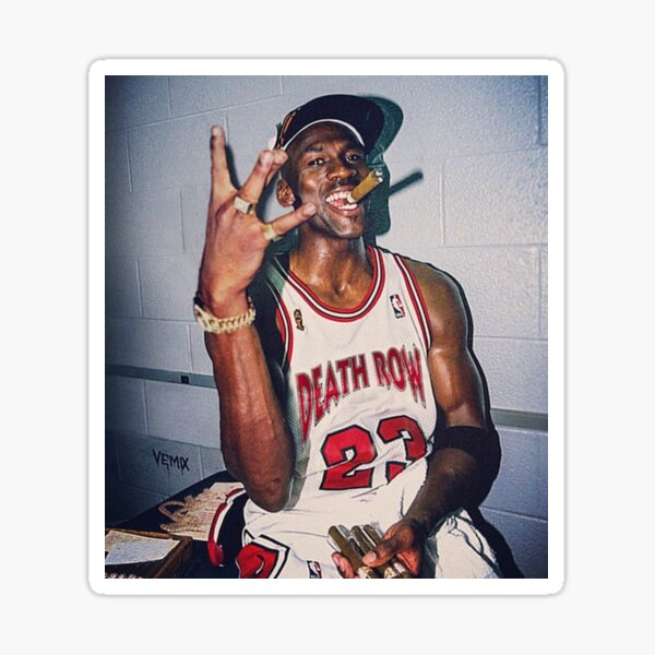 2pac Michael Jordan Pegatina