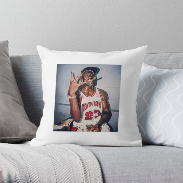 2pac Michael Jordan  Throw Pillow
