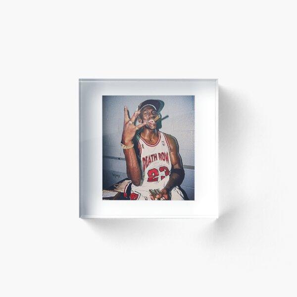 2pac Michael Jordan  Acrylic Block