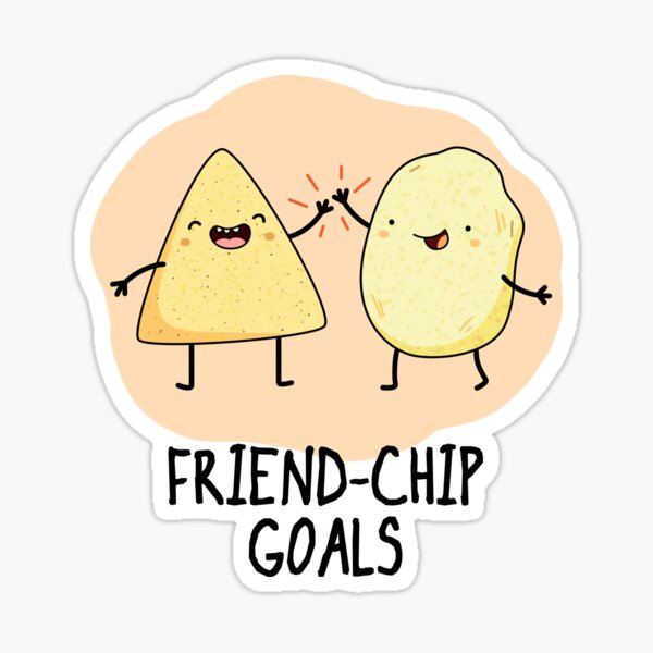 Friendchip Goals Food Pun Sticker