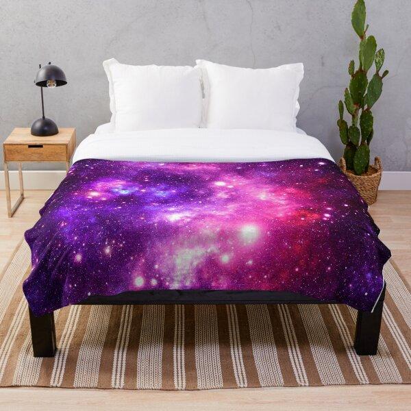 Pink Purple Galaxy Nebula Throw Blanket