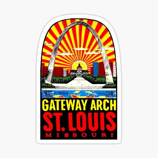 Gateway Arch St Louis Vintage Travel Decal Sticker