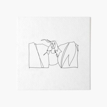 Maggie Rogers Heard It In A Past Life Line Illustration Art Board Print