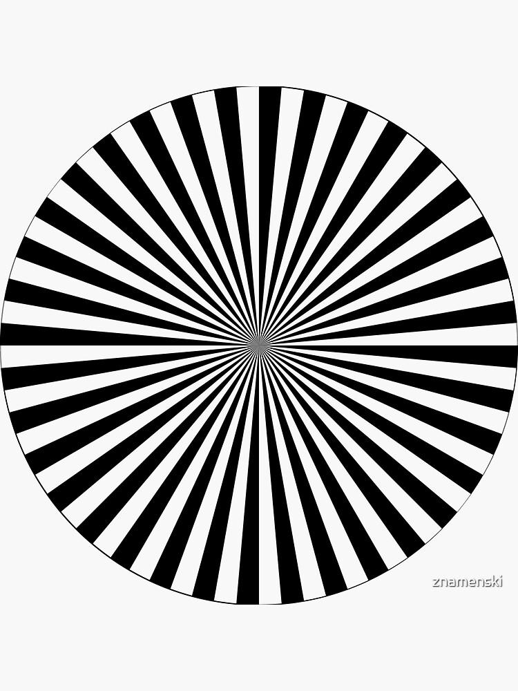 #Sunburst, #illustration, #psychedelic, #art, design, abstract, pinwheel, groovy, pattern, vector by znamenski
