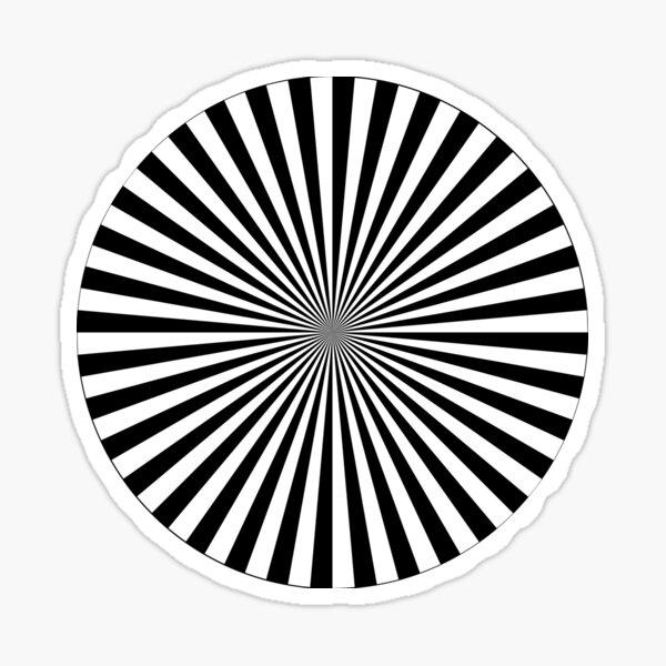 #Sunburst, #illustration, #psychedelic, #art, design, abstract, pinwheel, groovy, pattern, vector Sticker