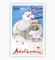 Switzerland Adelboden Vintage Travel Poster Sticker