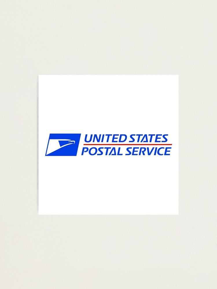 Usps Logo Photographic Print By Doeafemaledeer Redbubble