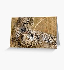 Karula and cub Greeting Card