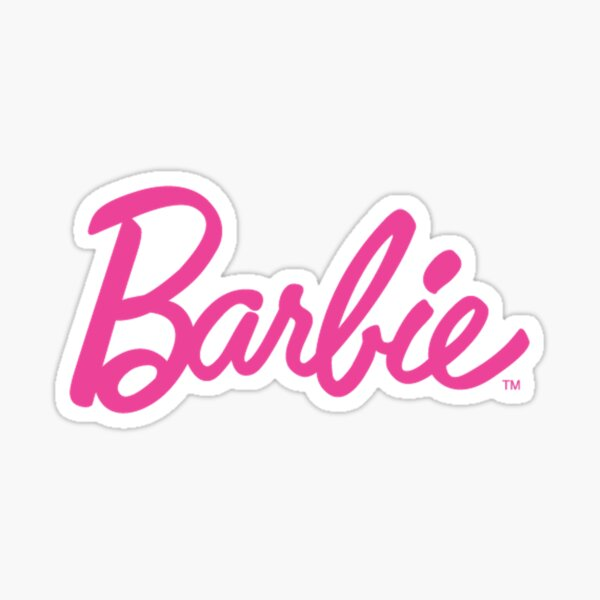 Logo Barbie Sticker