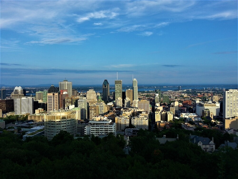 Downtown Montreal from Mount Royal by tomeoftrovius