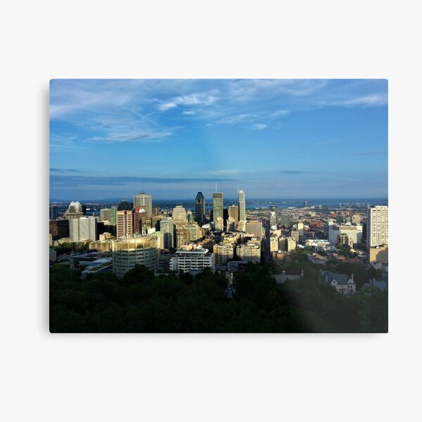 Downtown Montreal from Mount Royal Metal Print