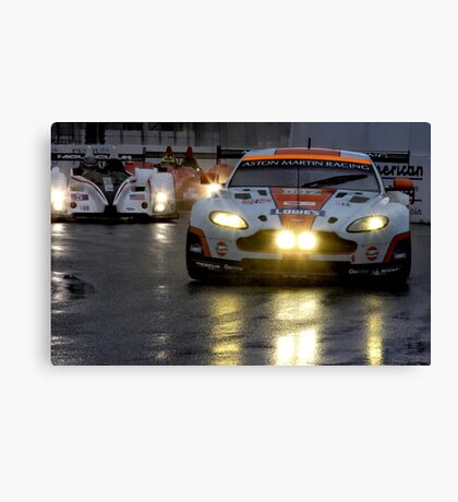 Race In The Rain Canvas Print
