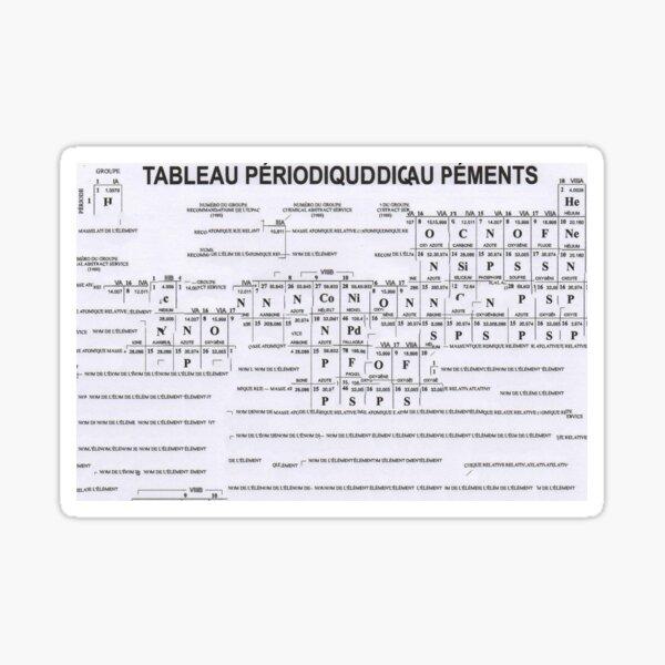 Tableau périodique - Art aléatoire numérique Sticker