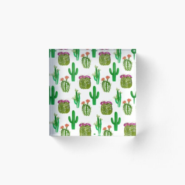 Cacti pattern Acrylic Block