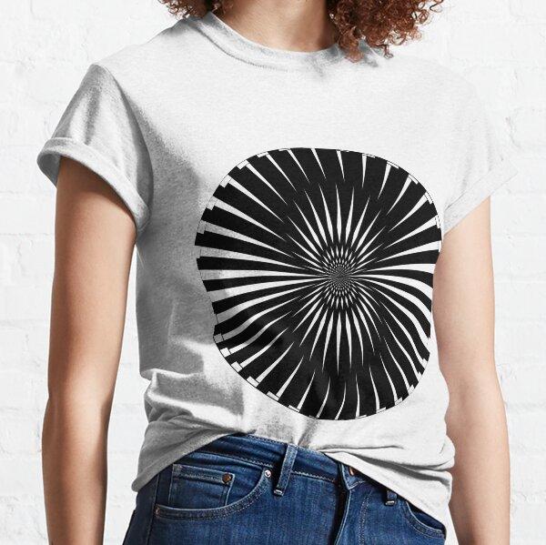 #Sunburst, #art, #illustration, #abstract, groovy, radial, design, pattern, pinwheel, vector, geometry, psychedelic Classic T-Shirt