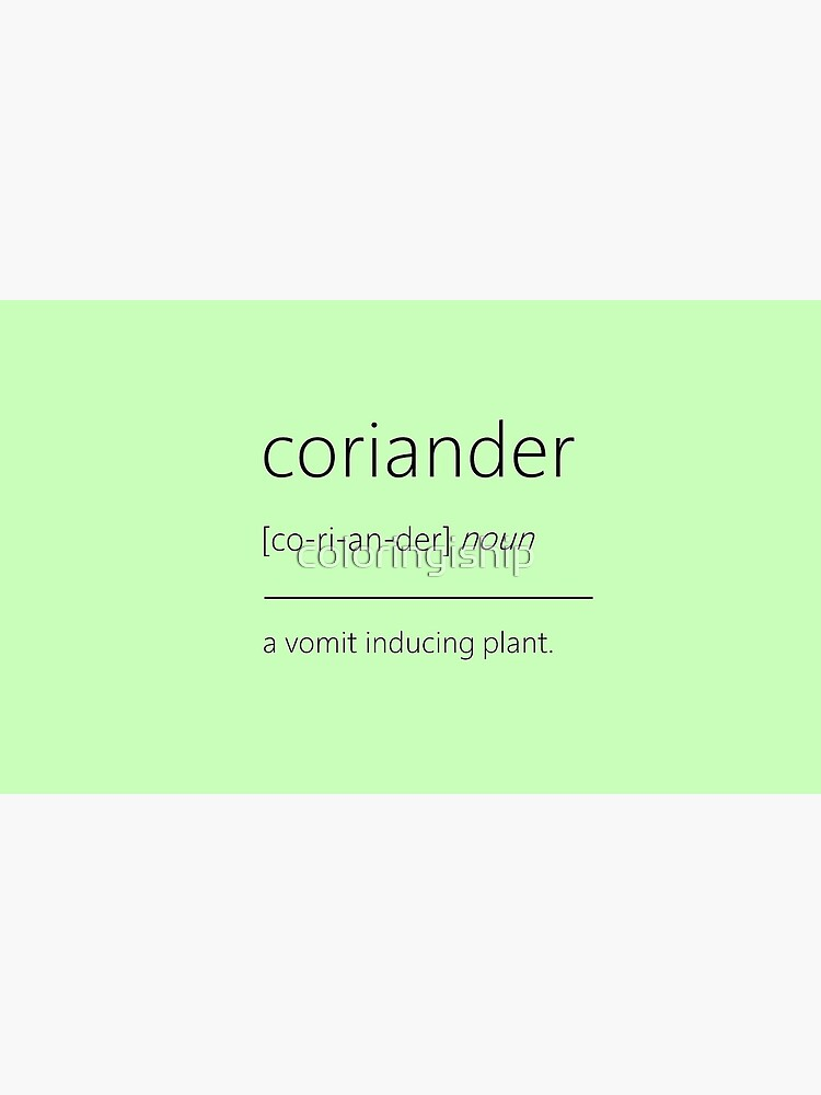 Coriander Haters by coloringiship