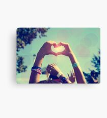 Have Heart in a Crowd Canvas Print
