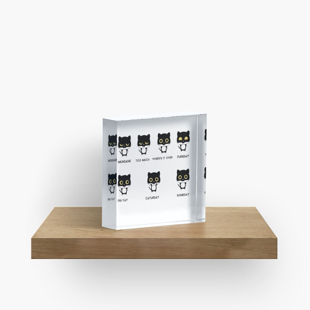 Caturdays Acrylic Block