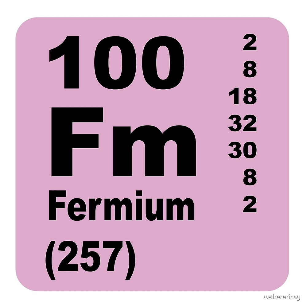 Fermium Periodic Table of Elements by walterericsy