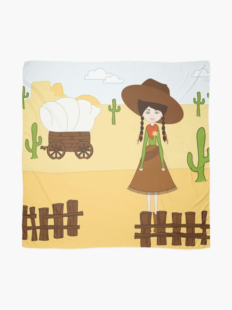 Vista alternativa de Pañuelo Celeste, la Vaquera del Oeste