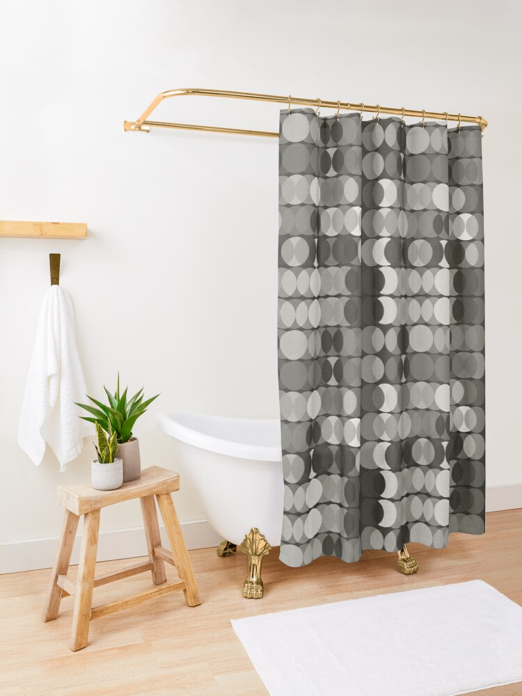 Alternate view of Grisailles Shower Curtain