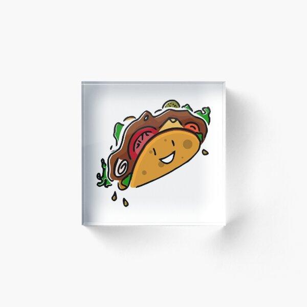 Happy Taco Acrylic Block
