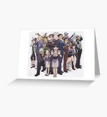 Ace Attorney  Greeting Card