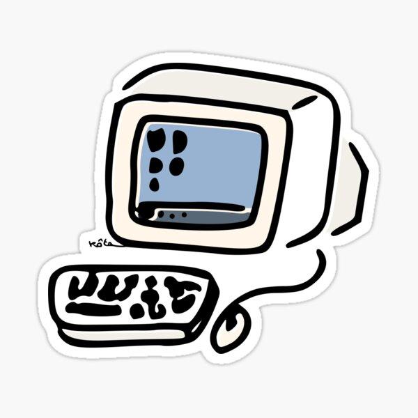 Old Computer Sticker