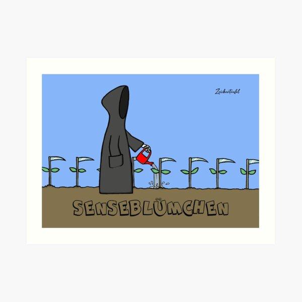 Zeichenteufel - Senseblümchen Kunstdruck
