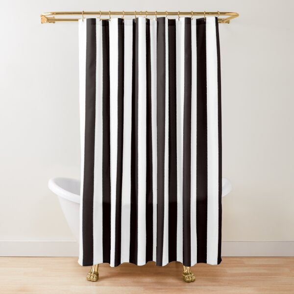 Redbubble Black And White Striped Shower Curtain Shower Curtain