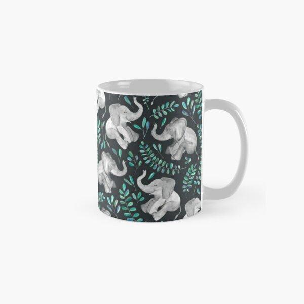 Laughing Baby Elephants – emerald and turquoise Classic Mug