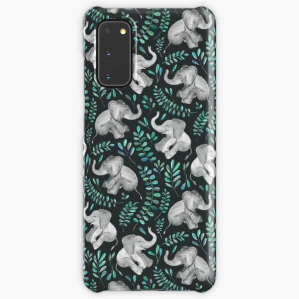 Laughing Baby Elephants – emerald and turquoise Samsung Galaxy Snap Case