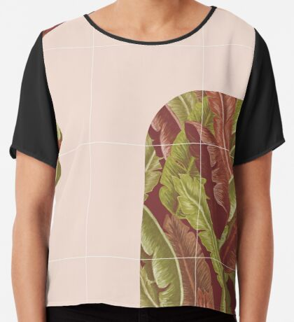 Mid-Century Tropical Style #redbubble #tropical Chiffon Top