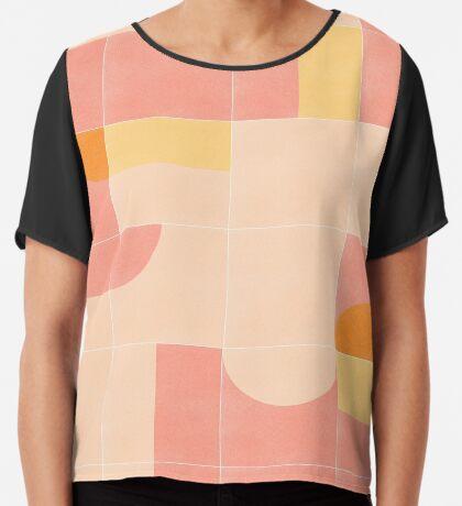 Retro Tiles 02 #redbubble #pattern Chiffon Top