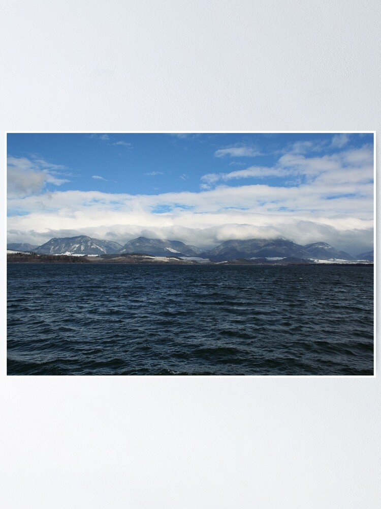 Alternate view of Wintery lake Poster