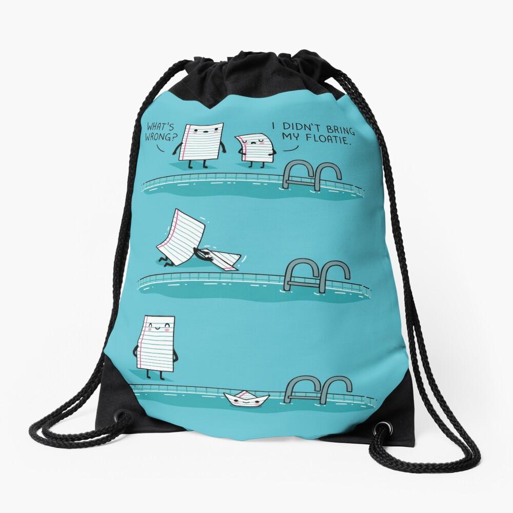The floatie Drawstring Bag