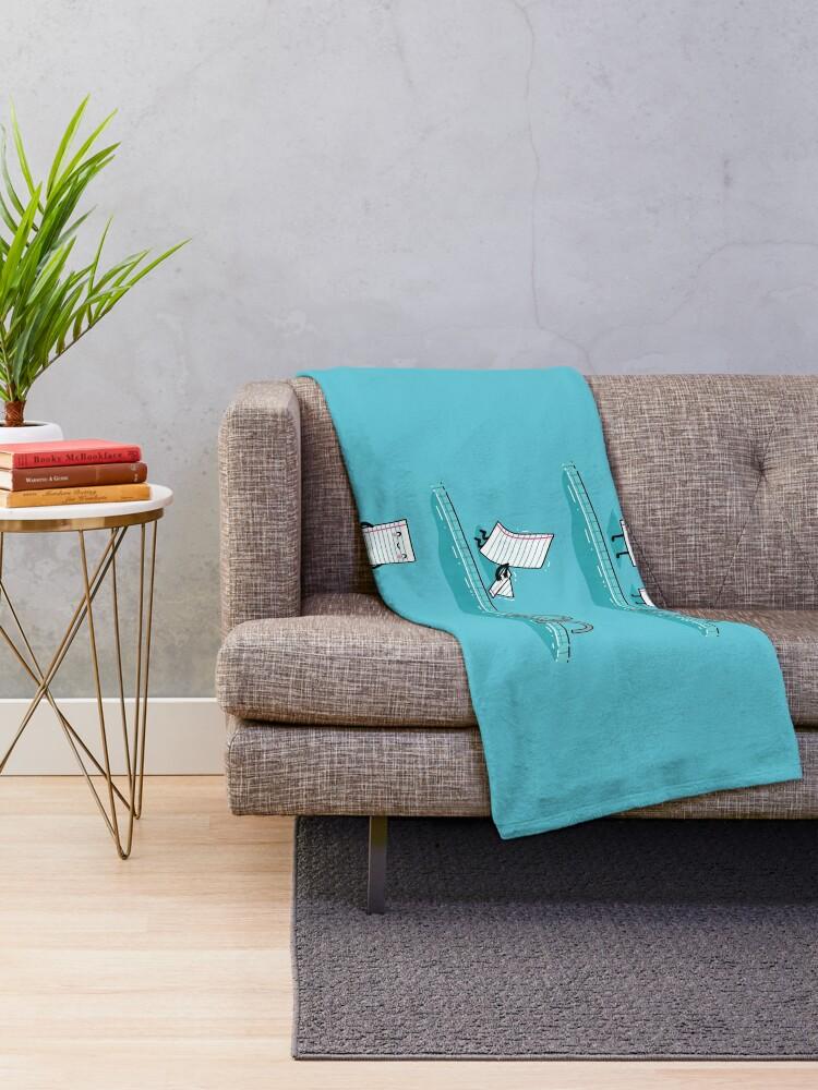 Alternate view of The floatie Throw Blanket