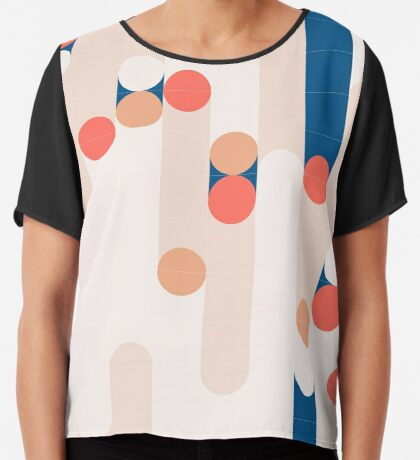 The Sound Of Tiles #redbubble #pattern Chiffon Top