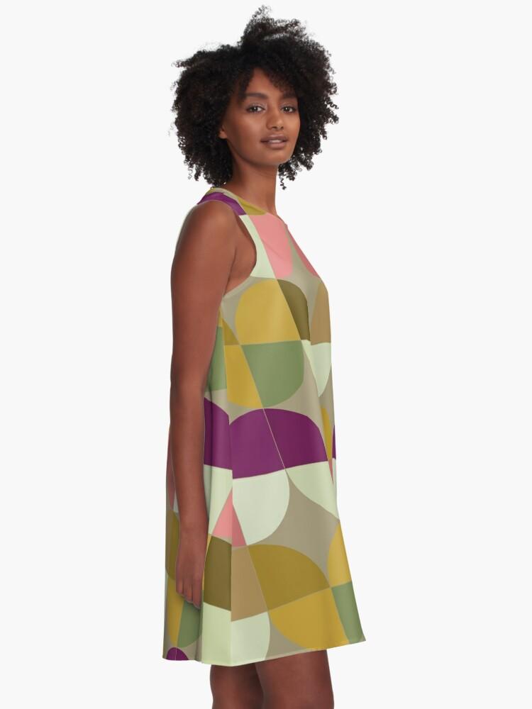 Alternate view of Retro Geometric New A-Line Dress