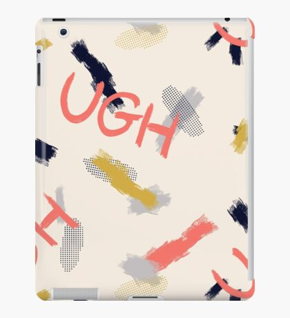 UGH Pattern #redbubble #pattern iPad Case/Skin