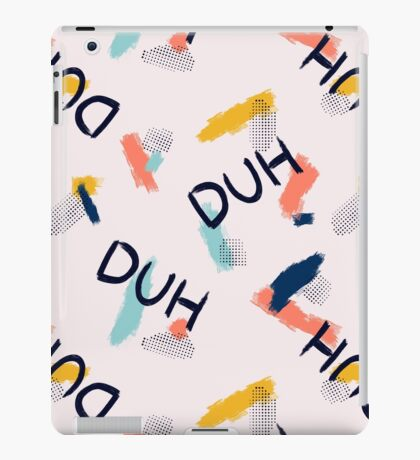 DUH Pattern #redbubble #pattern iPad Case/Skin