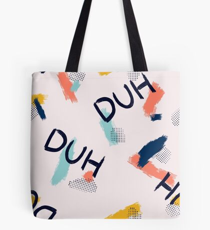 DUH Pattern #redbubble #pattern Tote Bag